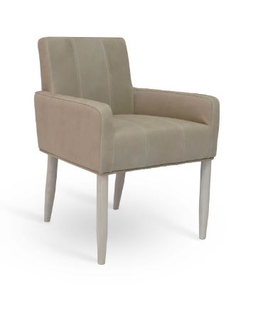 Merced Leather Low Back Arm Chair