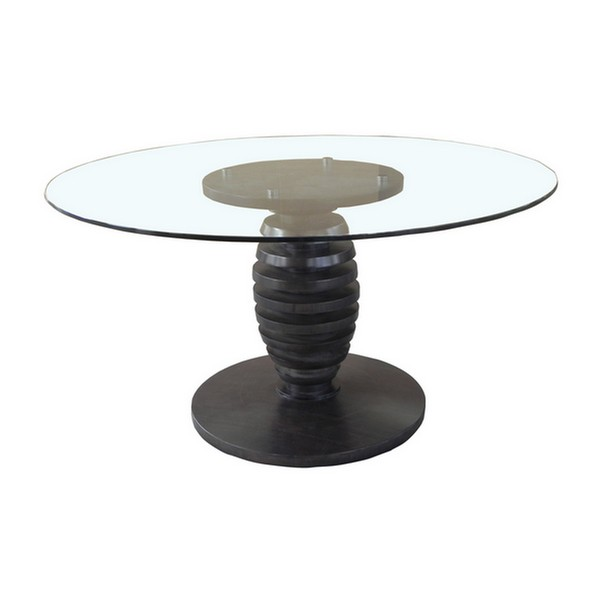 "54"" Glass Top Cone Table"