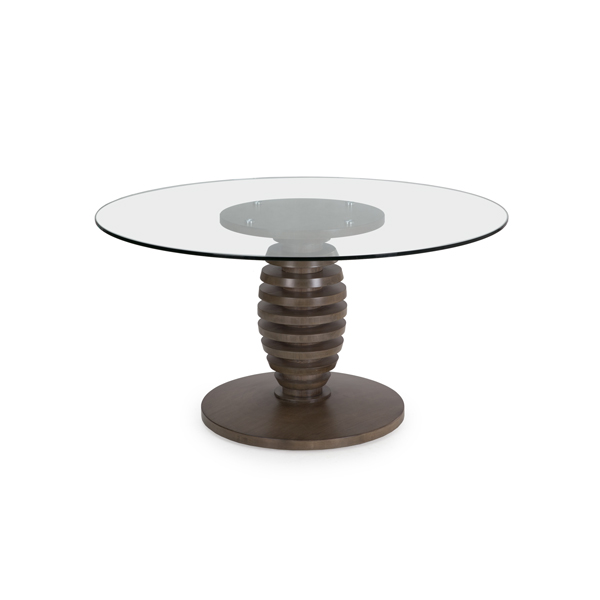 "60"" Glass Top Cone Table"