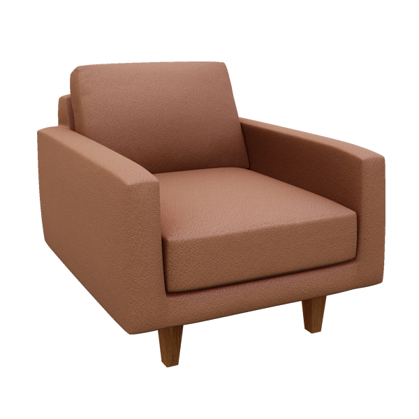 "Ingrid 34"" Leather Chair"
