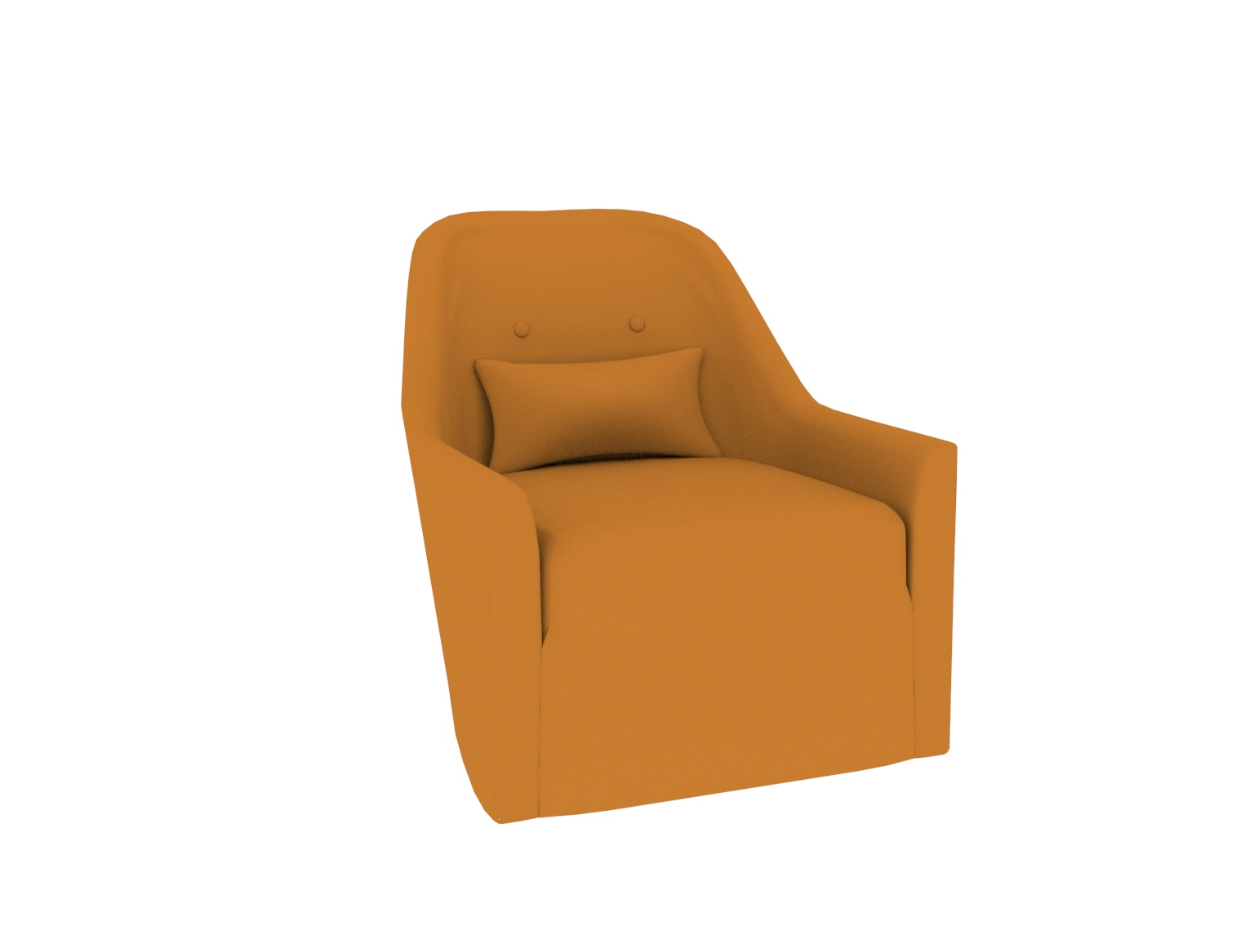 Leather Low Back Swivel Chair