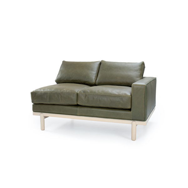 Cantor Right Arm Leather Sofa