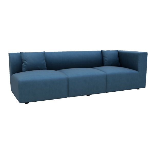 "Hilbert 97"" Leather Right Arm Sofa"