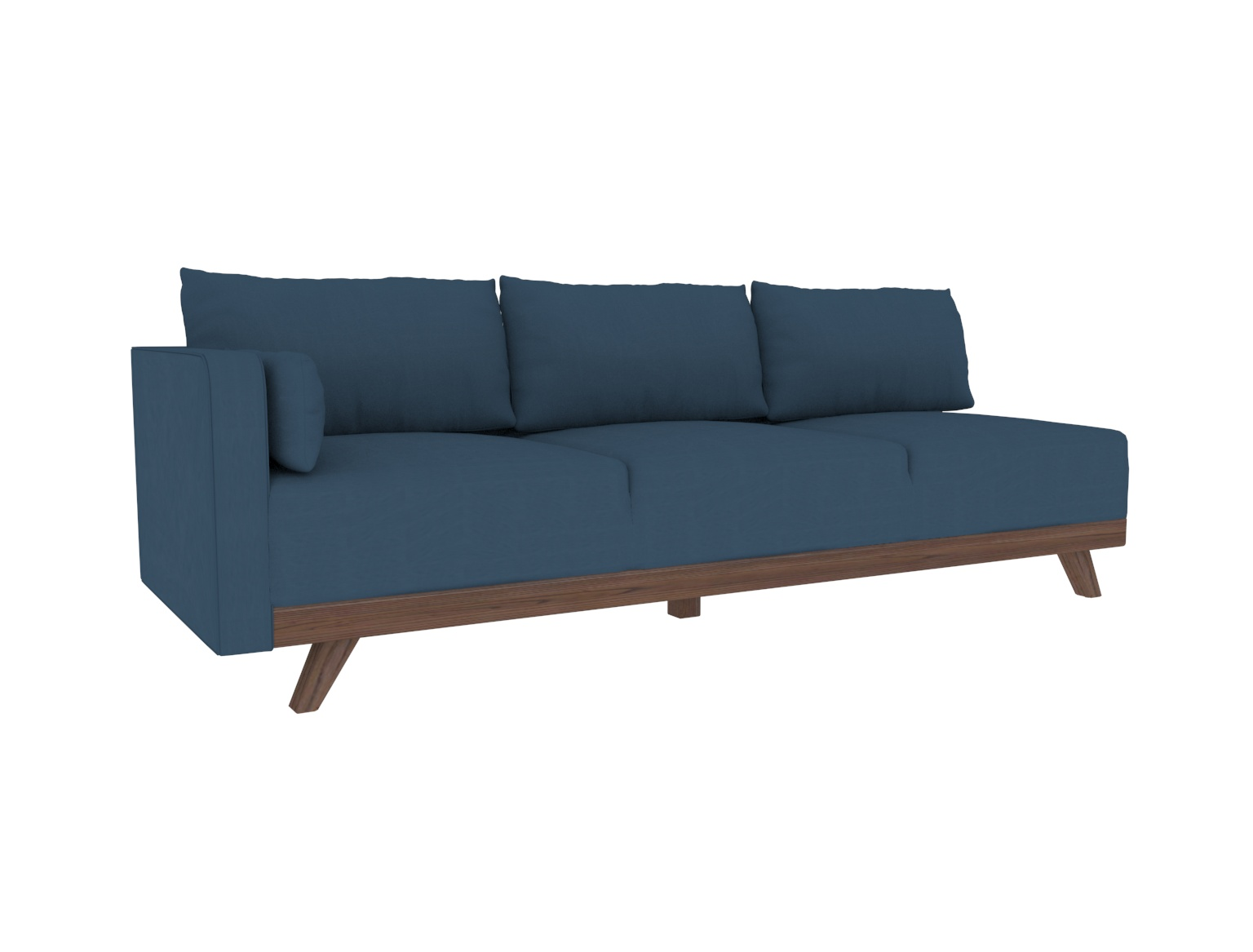 "93"" Leather Left Arm Sofa"