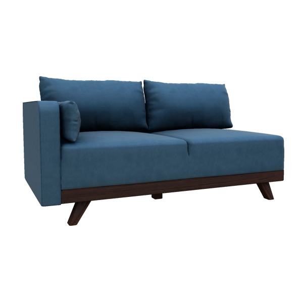 "63"" Left Arm Leather Loveseat"