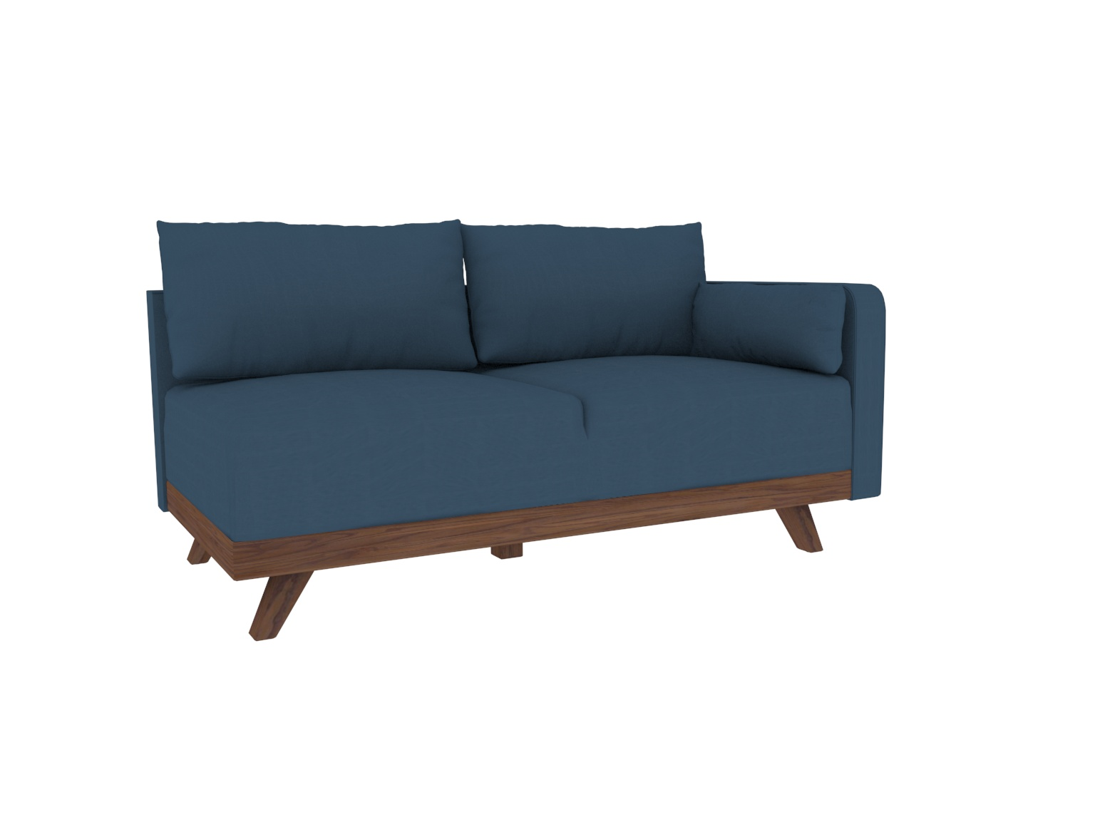 """63"""" Right Arm Leather Loveseat"""
