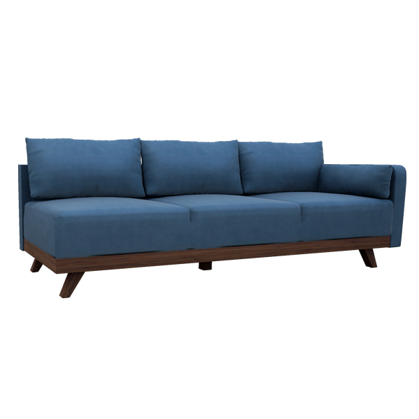 "93"" Leather Right Arm Sofa"