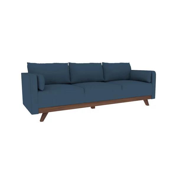 "95"" Leather Sofa with Elm Leg"