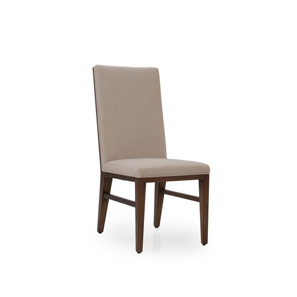 Maxwell Fabric Chestnut Side Chair