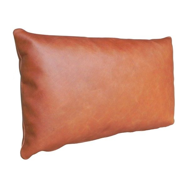 "15"" Leather Toss Pillow"