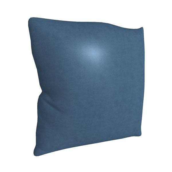 "21"" Square Leather Toss Pillow"